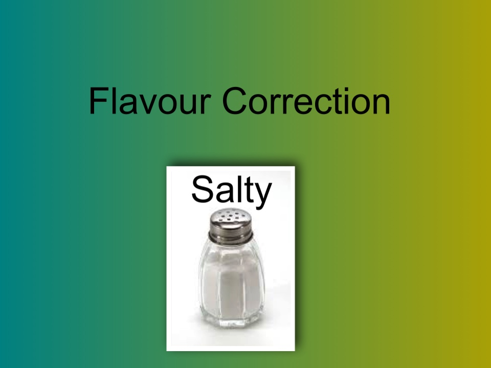 Correction of flavours..Salty